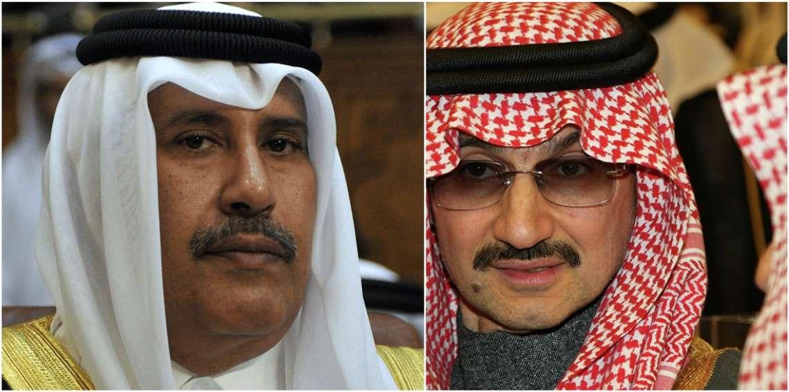 """""""بلومبيرغ"""" الأمريكية تكشف تفاصيل استثمارات """"سرية"""" بين حمد بن جاسم والوليد بن طلال"""