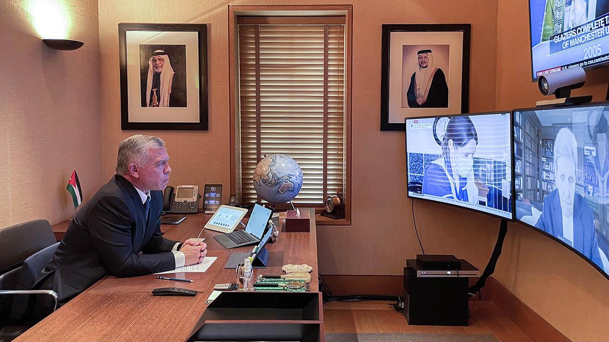 جلالة الملك يجتمع عبر الاتصال المرئي مع مبعوث الرئيس الأمريكي لشؤون المناخ