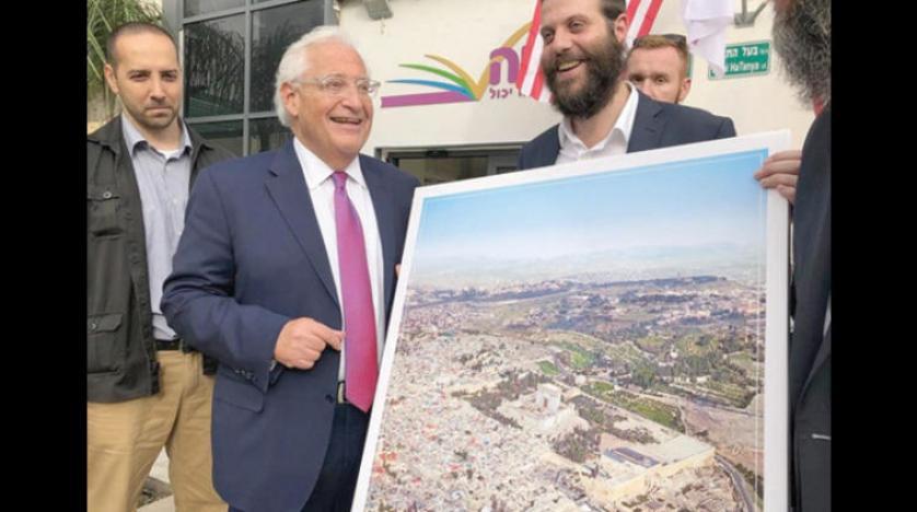 """""""ميرتس"""": """"فريدمان يتصرف بمبادرة من نفسه لدفع إسرائيل للضم"""""""